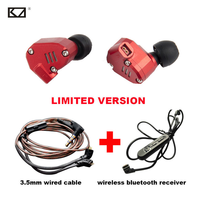 c4e3650b5e5 KZ ZS6 2DD 2BA 8 Drivers Bluetooth Headphone Hybrid Dynamics Armature HiFi  Sport Earphone Mic Upgrade Bluetooth Receiver 2 Cable
