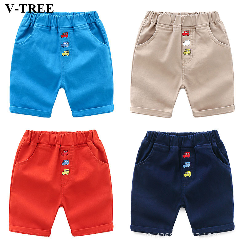 Summer Boys Shorts Cotton Shorts For Children Candy Color Kids Casual Pants Toddler Clothing 2-7 Years