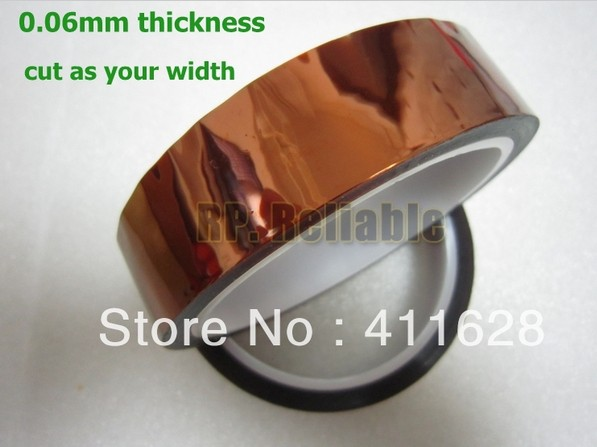 1x 42mm*33 meters* 0.06mm High Temperature Withstand, Adhesive, Polyimide Film Tape for Insulating Circuit Board, PCB Mask ...