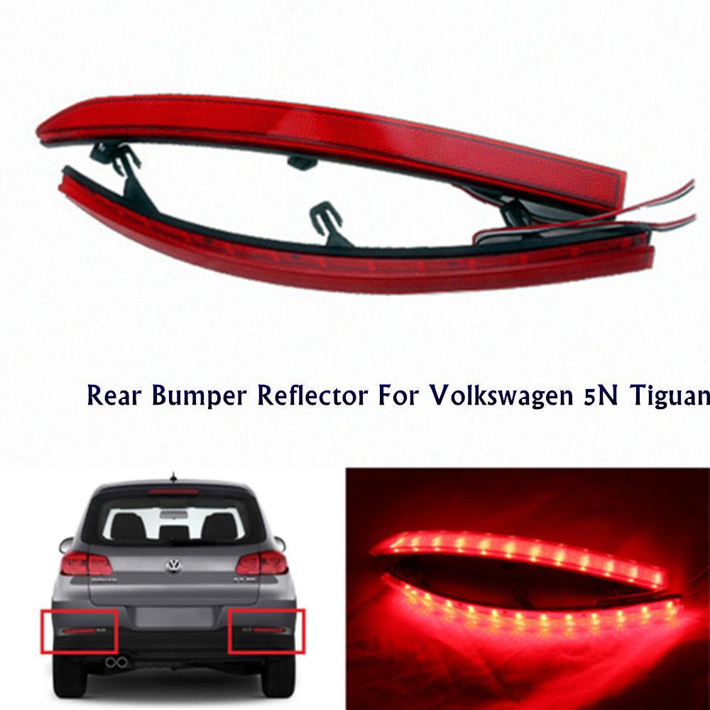 цена на CYAN SOIL BAY LED Rear Bumper Reflector As Tail Brake Fog Stop Backup Lights For Volkswagen Tiguan