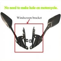 Modified Motorcycle nmax mirror adjustable windscreen windshield bracket for yamaha nmax155 nmax 150 2016 2019