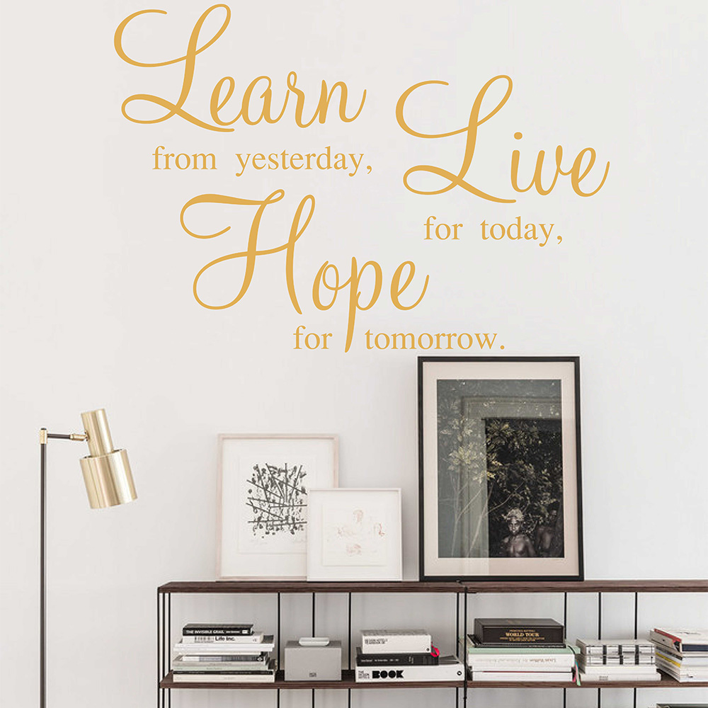 Hope Quotes Learn Live Hope Quotes Wall Stickers Family Quotes Sticker For