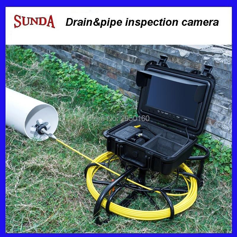 HTB1fsinXNrvK1RjSszeq6yObFXa5 - Pipe Sewer drain air duct underwater underground plumbing Inspection Camera 9inch LCD monitor 23mm camera head 12pcs LED lights