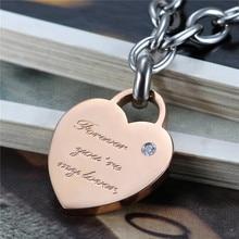 Stainless Steel Forever Love Bracelets For Men And Women Jewelry Heart Couple Bracelets Bangles For Lovers