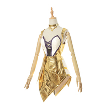 Anime cos 2019 LOL Ahri KDA Idol singer kda newest skin golden suit shiny Nine-Tailed Fox dress gorgeous cosplay costumes A