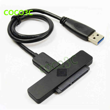 Free Shipping USB3.0 TO 22PIN SATA 3.0 Female 2.5inch 6Gb Hard Disk Drive HDD SSD Adapter Cable USB TO SATA Cable