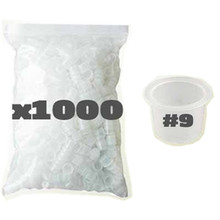 1000pcs 9mm Small Size White Tattoo Ink Cups Caps For Needle Tip Grip Power Supply–ICC#9-1000