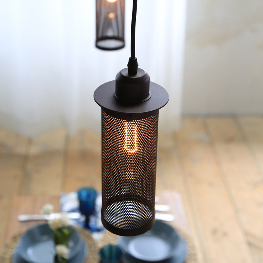 Metal Mesh Pendant Lamp Home Chandelier Hanging Light