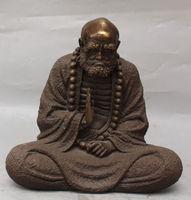 13 Тибет Буддизм Бронзовый сиденья Архат Дамо Бодхидхарма Дхарма статуя Будды