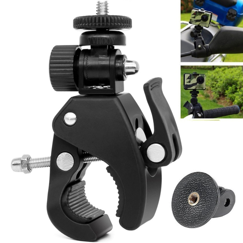 1/4 Camera DV DSLR Bike Bicycle Motorbike Handlebar Clamp Bracket Screw Clip Tripods Holder Mount for Gopro Hero5/4/3+/3/2/1