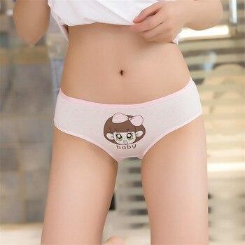Cute Funny boby Girl cartoon Print Panties Women Seamless Briefs Thong Fashion Cotton Underwear Lingerie Panties for girls rose