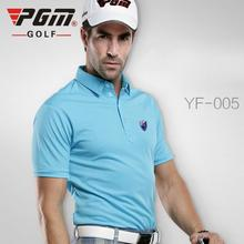 PGM Men Golf Shirt Quick Dry Short Sleeve Sport Clothing TShirts Polo t-shirt Plus S-XXL Golf Apparel(China)