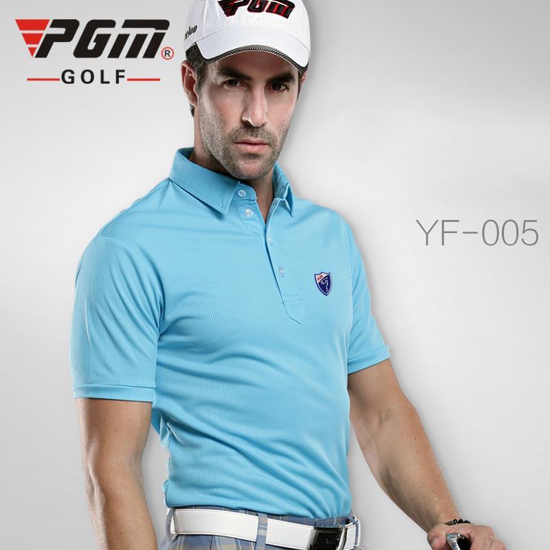 PGM Men Golf Shirt Quick Dry Short Sleeve Sport Clothing TShirts Polo t-shirt Plus S-XXL Golf Apparel