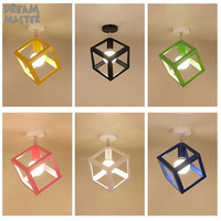 Hot Selling Vintage Ceiling chandelier industrial black white green pink yellow blue Balcony lamp Porch light corridors Lighting