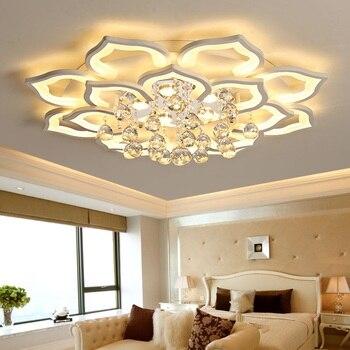 Postmodernen wohnzimmer decke lampe led kreative blütenblatt kristall halle  decke lampe schlafzimmer lampe esszimmer kronleuchter lampen