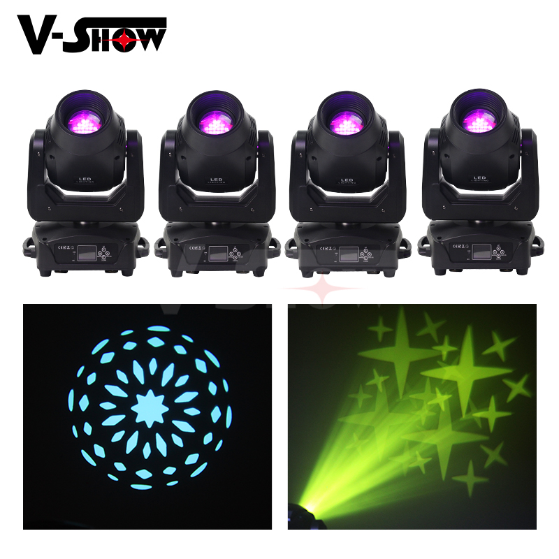 4pcs Led Moving Head Light BSW 150W Beam Spot Wash 3in1 Stage Light With 4 Facet