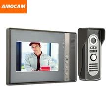 7″ Monitor Video Door Phone System Video Intercom Door Camera IR Night Vision Aluminum Alloy Doorbell Home Video Doorphone kit