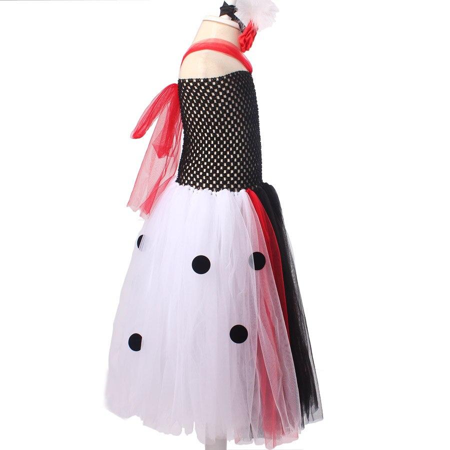 Dalmatijos karalienės mergaitės Tutu suknelė su galvos apdangalu - Vaikų apranga - Nuotrauka 3