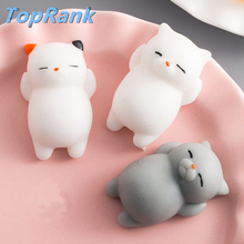 TopRank 27 Style Choice Wipes Antistress Boot Ball Sticky Eliminate Stress Squeeze Decompression Squishy Soft Cute Cat Toys