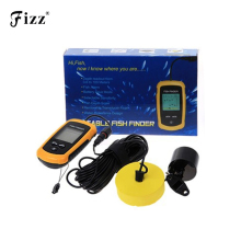High Accuracy Wired Fish Finder Waterproof Depth Sonar Sounder Alarm Transducer Fish Detector 100m Echo Sounder Deep Fishfinder bluetooth fish detector 125khz sonar sensor wireless sonar portable fish finder sensor echo sounder detector alarm accessories