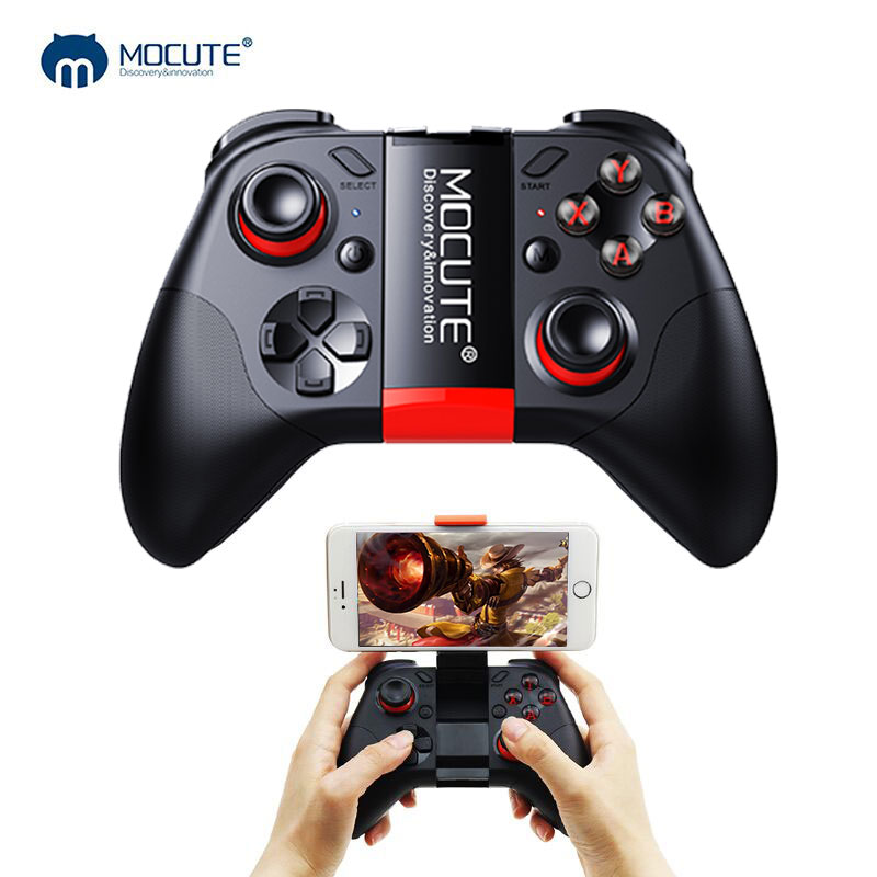 Mocute 054 Gamepad Pubg Mobile Joypad Android Joystick Wireless VR Controller Smartphone Tablet PC Phone Smart TV Game Pad mocute 052 bluetooth vr remote controller black