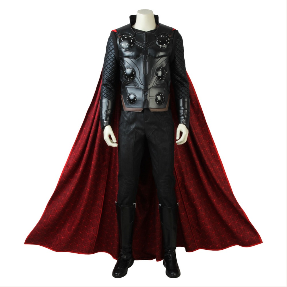The Avengers Infinity War Cosplay Costume Adult Men Thor Costume Outfit Superhero Full Sets Halloween Clothes Party Costumes