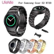 20mm wristband for samsung gear S2 R720 smart watch business strap metal stainless steel wrist strap with connector bracelet все цены