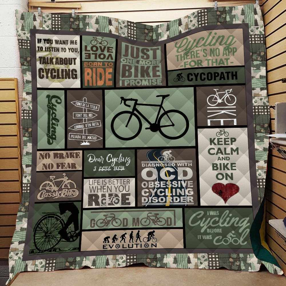 Bicycle Print Quilt Back To School Adults Bed Warm Thin Blanket Cotton King Size Outdoor Camping Picnic Soft Quilt Wholesale