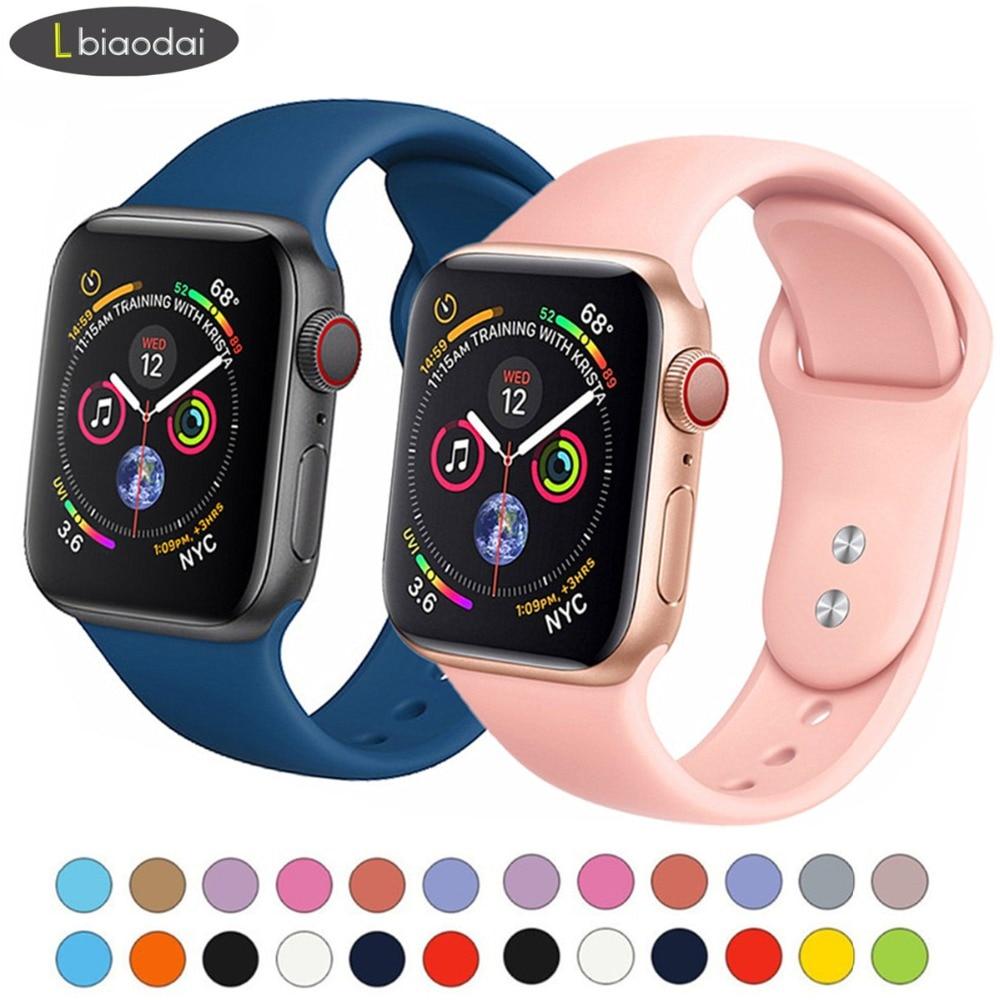Bracelet en Silicone pour Apple Bracelet de montre 42mm/44mm i Bracelet de montre 38mm/40mm Sport Bracelet montre Apple montre 4 3 2 1 accessoiresBracelet en Silicone pour Apple Bracelet de montre 42mm/44mm i Bracelet de montre 38mm/40mm Sport Bracelet montre Apple montre 4 3 2 1 accessoires