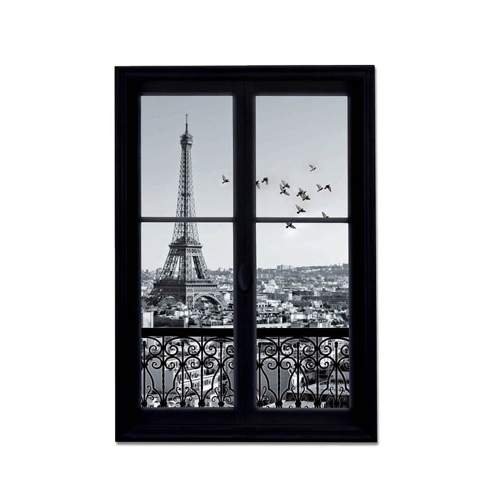 1pc Wall Decals Paris City Removable
