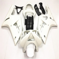 For Kawasaki Ninja ZX6R 636 2003 2004 Unpainted Injection Fairing Bodywork Kit ABS Plastic White Motorcycle Accessories