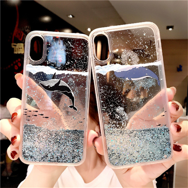 Для Samsung Galaxy S8 S9 плюс S7 edge Note 9 8 Bling сыпучий песок с блестками чехол из термопластичного полиуретана для A6 A8 2018 J3 J5 J7 A3 A5 A7 2017 2016 крышка