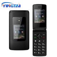 New Cheap Dual Screen Flip Senior Phone Dual SIM Card Push Button Keyboard Phone FM Radio Feature Clamshell Cellphone T30 GSM
