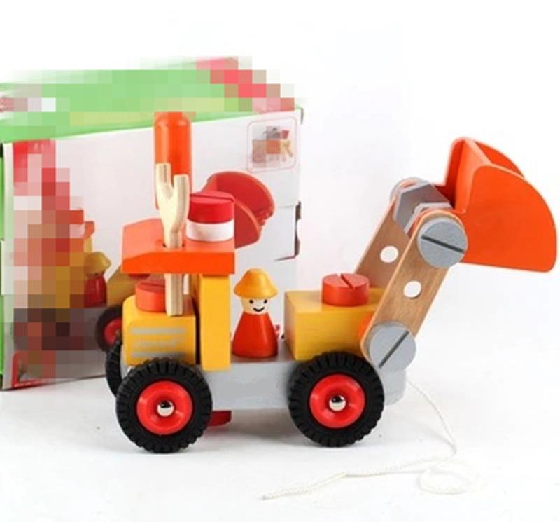 Új fa játék Kivehető fa puzzle szellemi fejlesztés kezek targonca szimulációs játékok Ingyenes szállítás