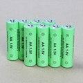 8 pçs/lote alcalina aa bateria recarregável 1.5 v 14500 aa bateria recarregável para câmeras de brinquedo de controle remoto frete grátis