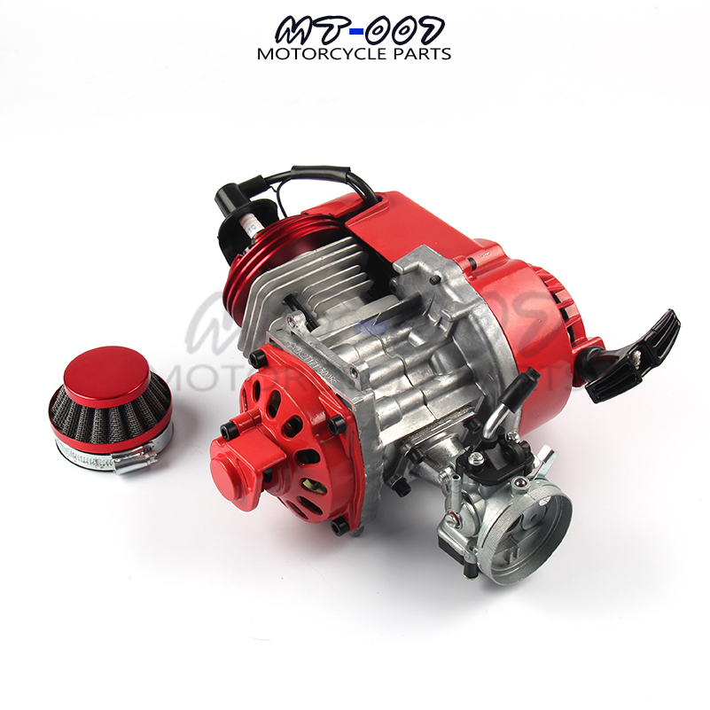 Motorbike Pocket Bike 2 Stroke Pull Start Engine For Mini Pocket Bike Go Kart Dirt Bike Petrol Scooter Motor 49cc pocket bike 2 stroke pull start engine for mini go kart dirt bike petrol scooter atv pocket bike motor motocross fdj 001