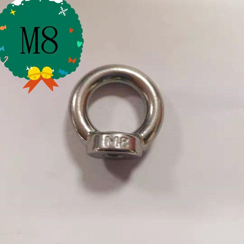 4 Pcs All Size Stainless Steel 304 Eye Nut Lifting Eye Nut Female Thread M8,M10