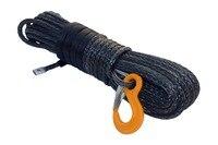 Бесплатная доставка Черный 10 мм * 30 м синтетический удлинитель каната лебедки, 10 мм плазменный лебедочный кабель, СВМПЭ веревка