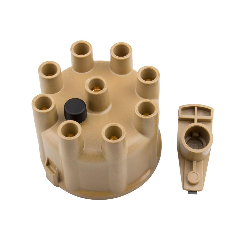 Distributor Cap dan Rotor Kit 8320ACC untuk Tan Female / Socket Brass Terminal / Clamp-Down, untuk Chrysler / Dodge / Plymouth