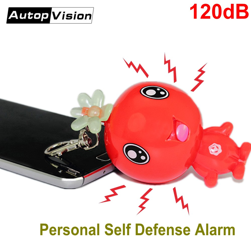 50pcs/lot Women's Anti-wolf Alarm Mini Cute Keychain Alarm Personal Self Defense Alarm For Students Girls As A Car Key Chain