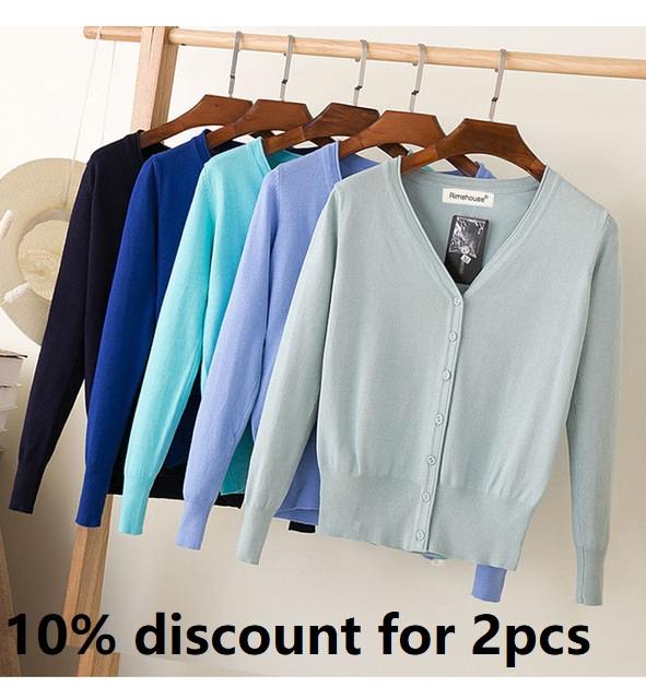 21 Colors S-6XL 2019 high quality spring autumn cardigan women casual sweet long sleeves knitted tops V neck women sweater coat