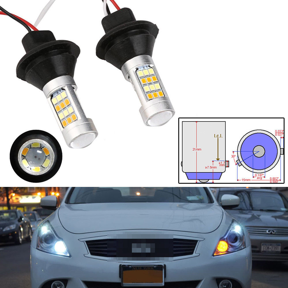 Front Turn Signals light & DRL daytime running light all in one For Snoic LED PY21W BAU15S 1156 S25 led steering lamp 2pcs car led turn signals drl headlight canbus kit 1156 daytime running front light yellow white turn signal lamp