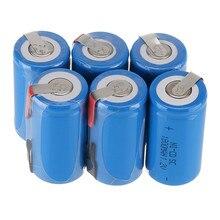 10 Шт./лот 22*42 мм Sub C Аккумуляторная Батарея SC 1.2 В 1800 мАч NI-CD Аккумуляторы С PCB Для электронные Инструменты VES21 T10