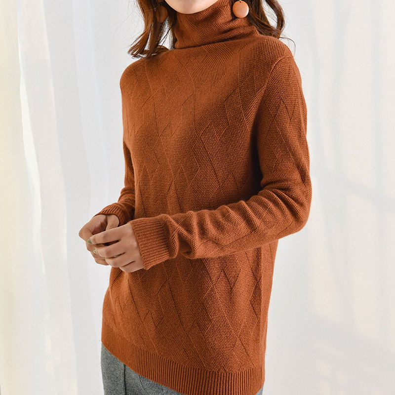 Cashmere Sweaters for Women Autumn-Winter Wool Geometric Knitted Warm Pullovers