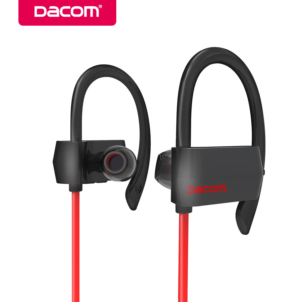 Dacom G18 IPX4 Waterproof Bluetooth Earphones Headset Wireless Sports Running Headsets Handsfree casque with Mic For LG iPhone 8 new dacom carkit mini bluetooth headset wireless earphone mic with usb car charger for iphone airpods android huawei smartphone