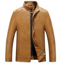 Men's Jackets brand new PU Motorcycle Leather Jackets Men, Autumn Winter Clothing, zipper Stand collar Male Casual black Coats