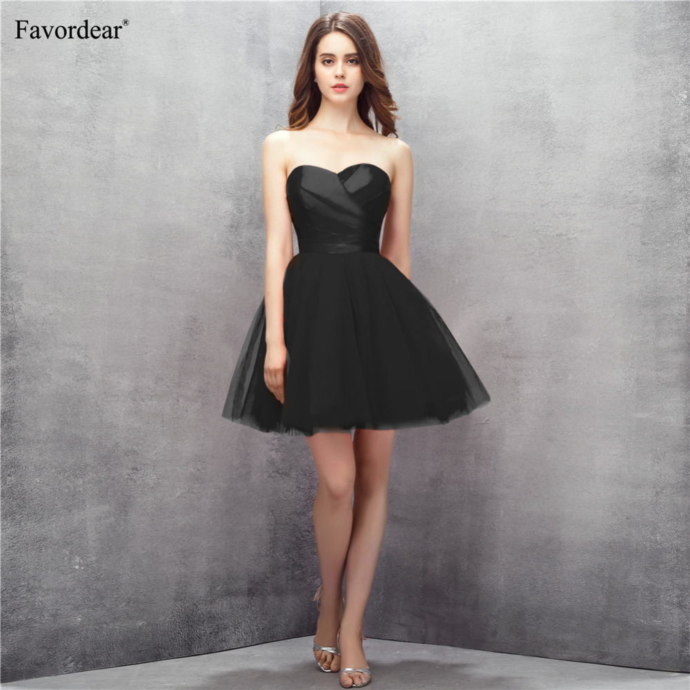 Favordear Little Black   dress   Sweetheart Mini Short   Cocktail     dress   Ball Gown Simple Mini Party Gowns Hot Sale