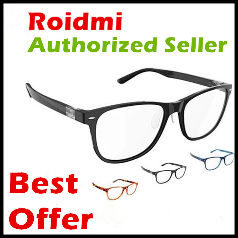 Authorized Xiaomi ROIDMI B1 W1 3 Colors 2 Pair of Ear-stem Detachable Anti-Blue-Rays Protective Glasses Eye Protector Good Eyes lowest price original xiaomi b1 roidmi detachable anti blue rays protective glass eye protector for man woman play phone pc