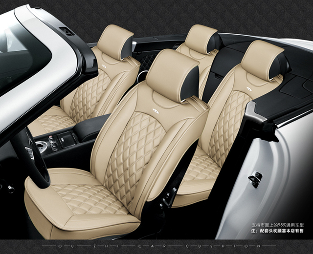5 seats Car Seat Cover Sports Styling,Senior Leather, Whole Surrounded Car Seat cushion,car  Interior Accessories