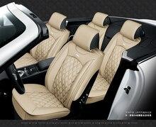 5 sièges housse de siège de voiture style sportif, cuir Senior, coussin de siège de voiture entièrement entouré, accessoires dintérieur de voiture